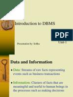 DBMS Unit-1