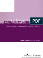Civic Engagement and Community Information Five Strategies