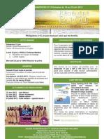 Le bulletin d'annonces N°19 semaine du 16 au 23 juin 2012