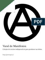 Varal de Manifestos - Coleção de escritos indispensáveis para pendurar nas ideias.