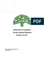 Frazier report on OPD response to Occupy Oakland, Oct. 25 2011