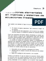 Operaciones en matrices y sistemas ecuaciones lineales