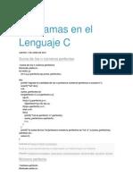 Programas en El Lenguaje C