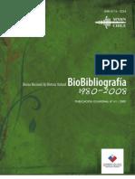 Biobibliografía. Museo de Historia Natural 1980-2008. (2009)
