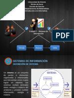 IV UNIDAD - Sistemas de Informacion