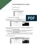 Excel Minverse
