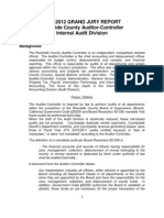 Grand Jury report on Internal Audit Division