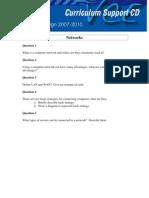 Networks Worksheet
