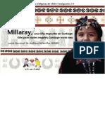 Niños y niñas de los pueblos indigenas de Chile e inmigrantes. Millaray, una niña mapuche en Santiago