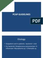 PCAP Guidelines