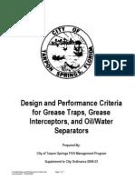 Design and Performance Criteria