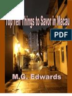 Top Ten Things to Savor in Macau