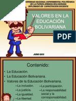 Valores Educacion Bolivariana