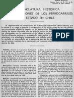Nomenclatura histórica de las estaciones del los Ferrocarriles del Estado de Chile.