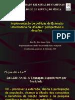 EXTENSÃO UNIVERSITÁRIA E DESENVOLVIMENTO SOCIAL