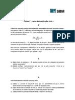 Exame Qualificacao 2012 1 Prova