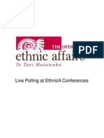 Live Polling at EthnicA Conferences