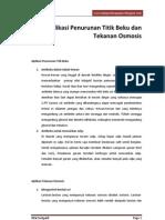 5. Aplikasi Penurunan Titik Beku Dan Tekanan Osmosis