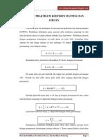 Metode Praktikum Koefisien Manning Dan Chezzy
