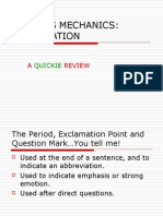 Writing Mechanics Punctuation