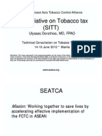 SEA Initiative on Tobacco tax by Dr. Dorotheo