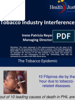 Tobacco Industry Interference by Atty. Irene Reyes, HJP