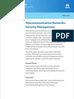 Telecom Whitepaper Telecommunication Networks Security Management 01 2012