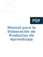 Manual de Productos de Aprendizaje Trabajos Independientes[1]
