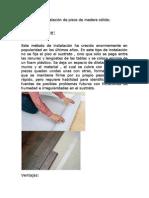 Metodos de Instalación de madera sólida