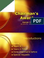 FIRST Robotics Chairman's Award