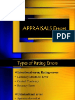 Appraisal Errors
