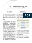Analysis of TCP Tahoe with Multiple Fast Retransmission in Network on Chip