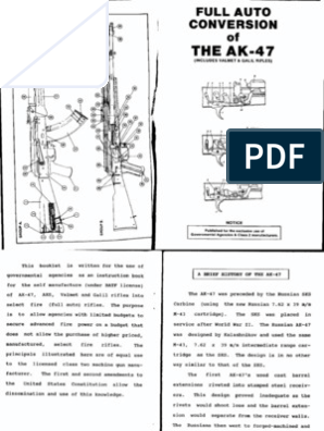 Full Auto Conversion - AK-47 Rifle Ak Schematic Diagram on