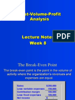 Cost Volume Profit Analysis Lecture Notes