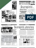 Versión impresa del periódico El mexiquense 15 junio 2012
