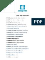 Programación Estepona Televisión 18 de junio de 2012