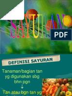 bahan kuliah sayuran