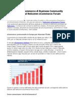 Netcomm / Business Community Speciale Mercato eCommerce Italiano