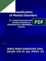 Classification of Mental Disordesrs