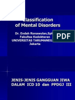 Classification of Mental Disordesrs