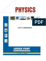 Career Point IIT Physics Unit Dimension