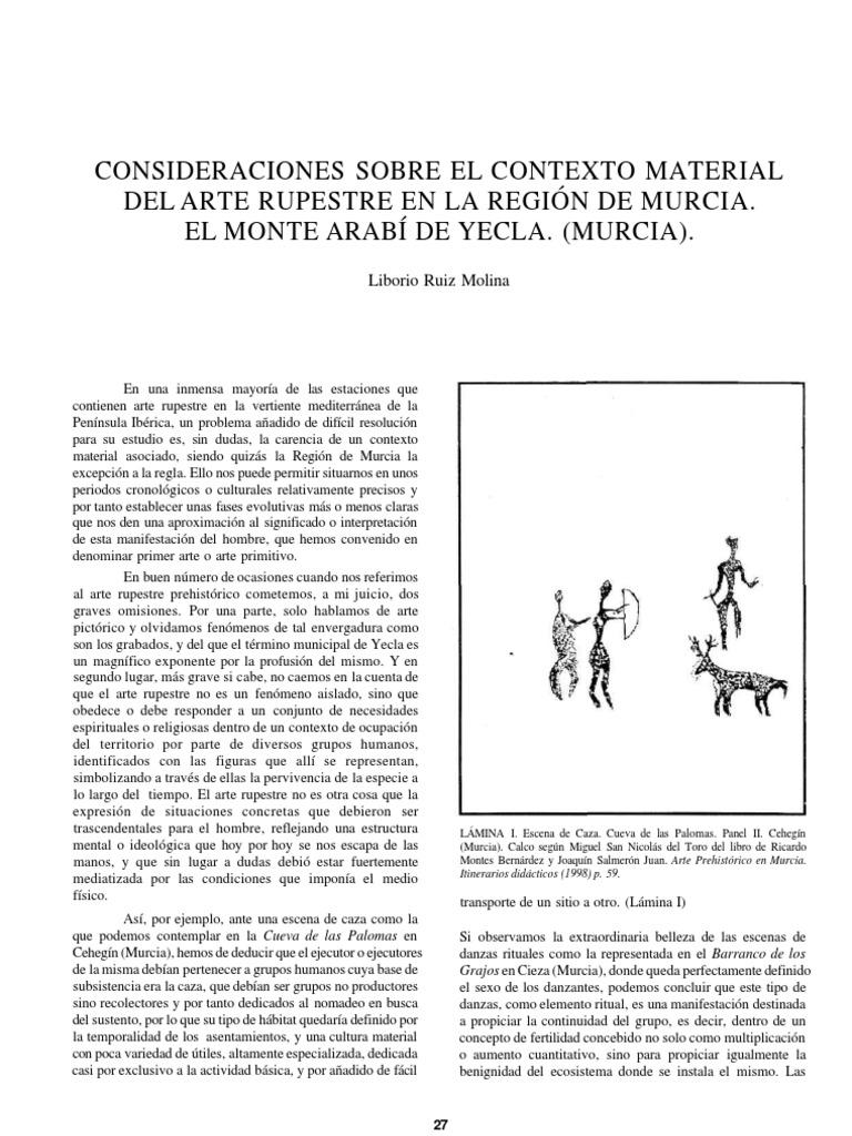 Consideraciones Sobre El Contexto Material Del Arte Rupestre En La  # Muebles Ricardo Montes