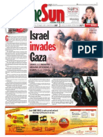 thesun 2009-01-05 page01 israel invades gaza