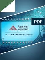 American Megatrends Platform Validation Services