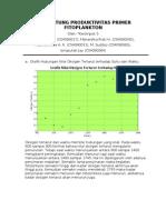 Menghitung Produktivitas Primer Fitoplankton