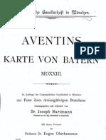Erste Landkarte Bayerns von Johann Georg Turmair (Aventinus) (1523)