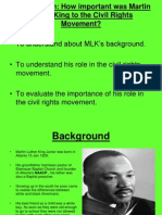 How Important Was MLK to the Civil Rights Movement