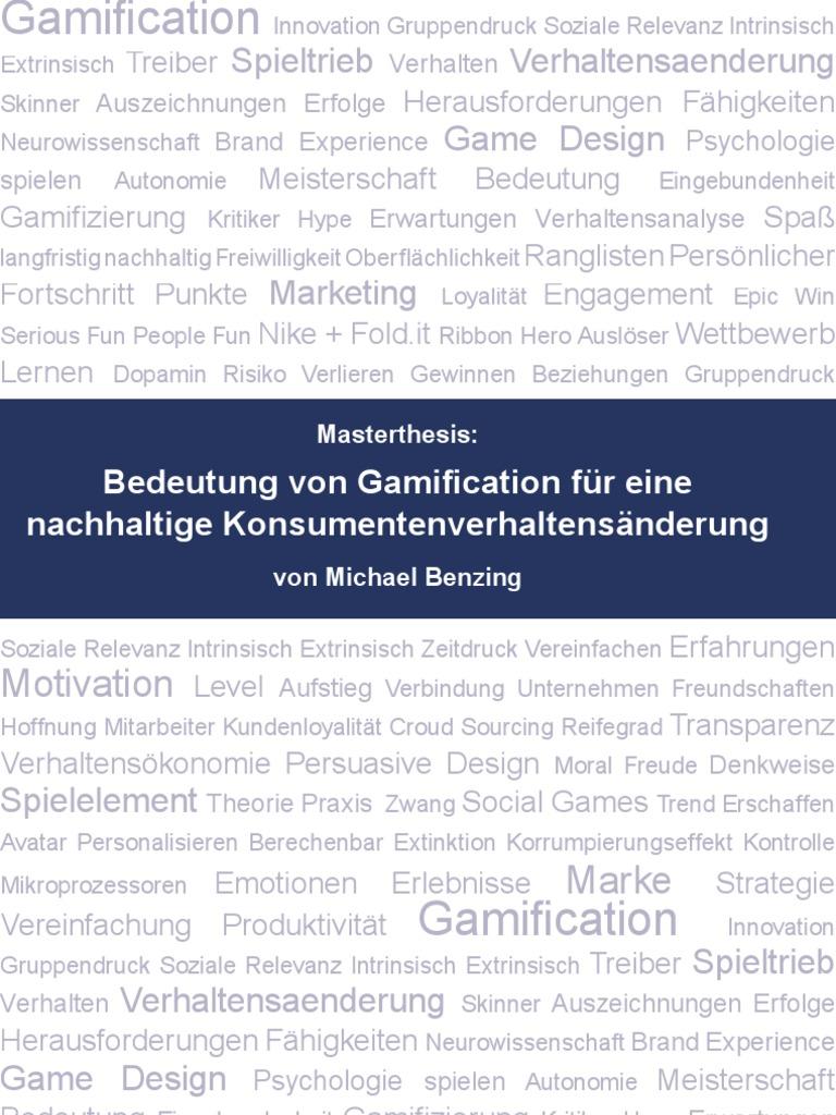 Bedeutung von Gamification für eine nachhaltige ...