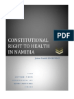 Constitutional Right to Health in Namibia