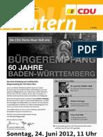 CDU intern Juni 2012